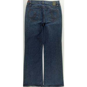 Worn Boot Cut Jeans Petites P8 Stretch Low C500